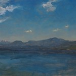 Lake Almanor Panorama plein air pinting by Matthew Joseph Peak